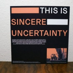 "Rivers & Tides - ""Sincere Uncertainty"" col. Vinyl-LP"