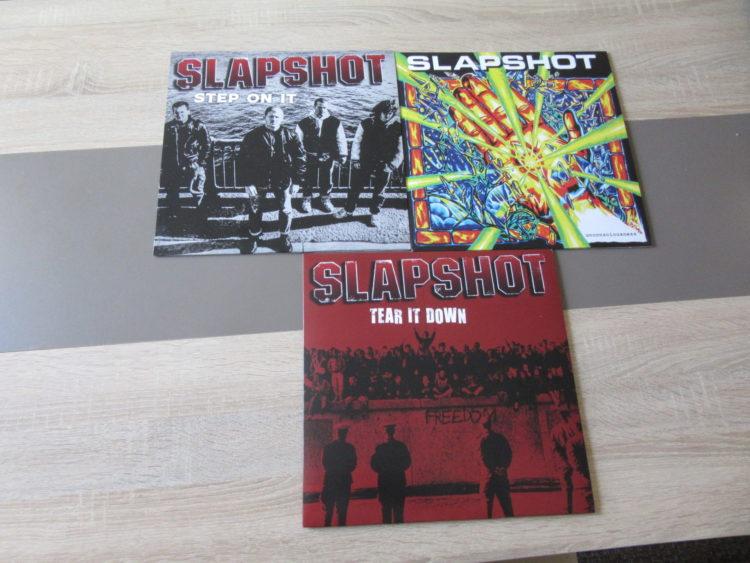 Slapshot - Tear it Down vs. Unconsiousness vs. Step on it col.Vinyl-LPs 1