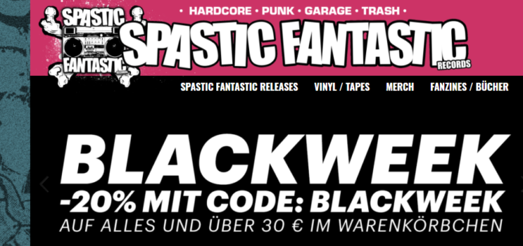 Spastic Fantastic Records - Blackweek: Man braucht Platz 1