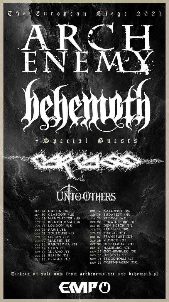 Arch Enemy, Behemoth - The European Siege 2021