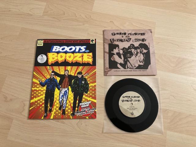 Boots-N-Booze Comic mit Swingin Utters 7inch 1