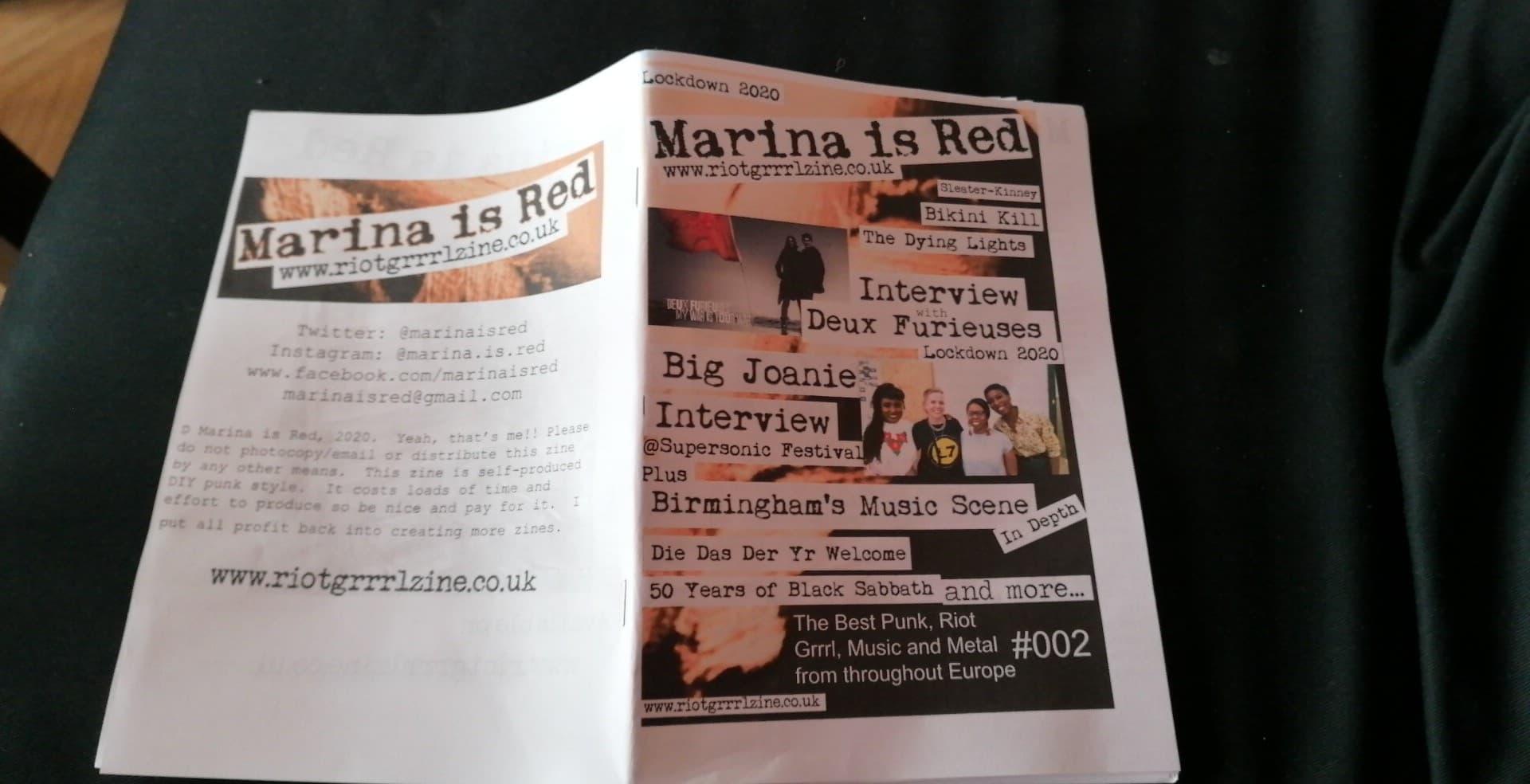 Marina is Red #2 Fanzine 2